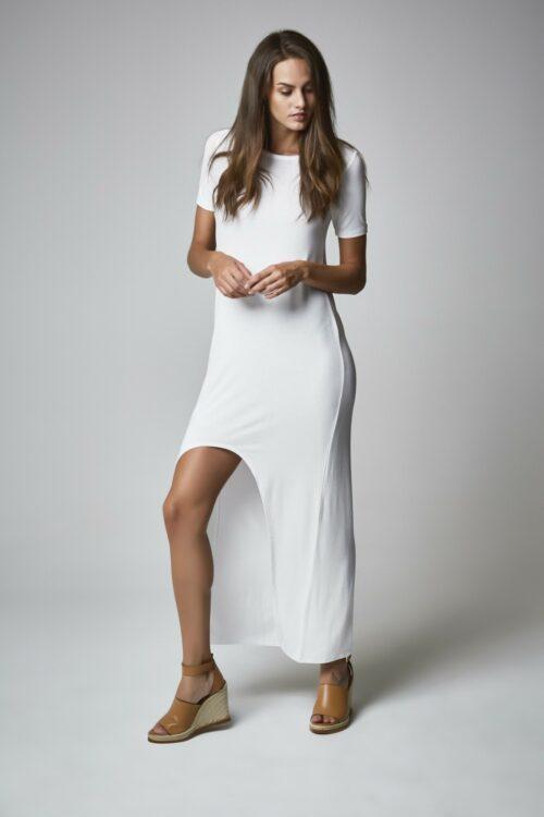 Vestido camisa blanco 1