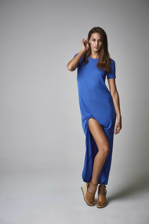 Vestido camisa dazzling blue 1