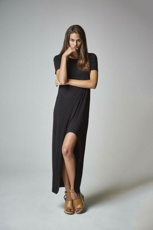 Vestido camisa negro 1