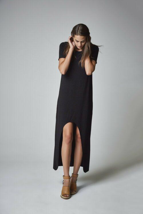 Vestido camisa negro 2
