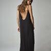 Vestido escote espalda negro 3