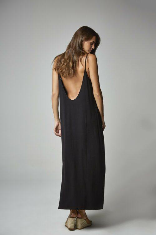 Vestido escote espalda negro 2