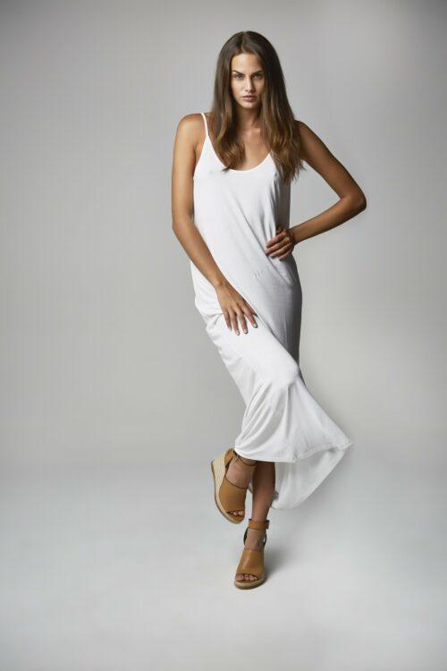 Vestido Escote Espalda Blanco 1