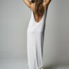 Vestido Escote Espalda Blanco 3